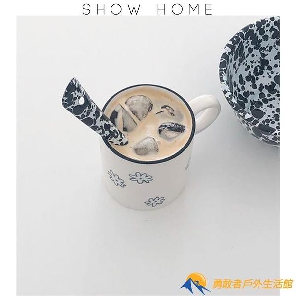 水杯可愛馬克杯陶瓷杯燕麥杯帶蓋勺【勇敢者】