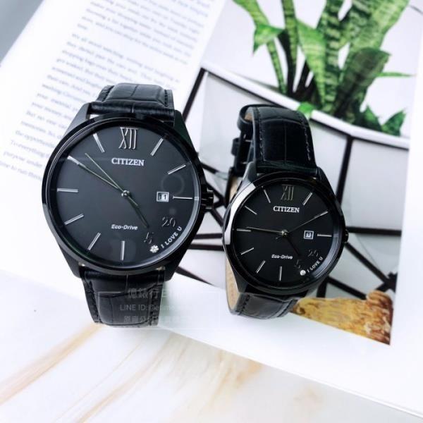 【南紡購物中心】CITIZEN  星辰 Eco Drive 光動能情人對錶(BM7357-10E) (EW2457-18E)