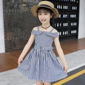 兒童洋裝 童裝連身裙純棉正韓兒童格子裙中大童公主裙子洋氣-小精靈生活館
