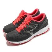 Mizuno 慢跑鞋 Spark 6 灰 紅 女鞋 美津濃 運動鞋 路跑入門款 【ACS】 K1GA2104-49