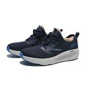 SKECHERS 慢跑鞋 GO RUN ELEVATE 深藍 襪套式 英文LOGO 男 (布魯克林) 220182NVBL