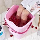 泡腳桶 帶蓋塑料加大加高洗腳桶泡腳木桶 家用足浴盆洗腳盆足浴桶 df5309【大尺碼女王】