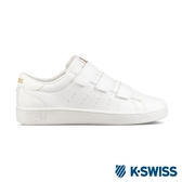 【K-SWISS】Clean Court 3-Strap S CMF休閒運動鞋-女-白/金(96187-194)