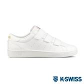 【K-SWISS】Clean Court 3-Strap S CMF休閒運動鞋-女-白/金(96187-194)