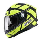 【SOL SF-5 ALPHA  阿爾法 SF5 全罩 安全帽 消光黑螢光黃 】內襯全可拆、內藏鏡片、免運+好禮