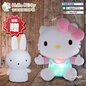 【加送獨家贈品及可愛象矽膠套】Hello Kitty幼兒安撫絨毛音樂啟蒙故事機(IDO1019)
