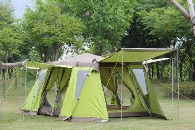 自動戶外野營多人雙層防暴雨超大空間 二房四廳【藍星居家】