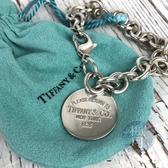 BRAND楓月 TIFFANY&CO. 蒂芬妮 銀牌墜飾 粗手鍊 925純銀 手鍊 手環 飾品 配件