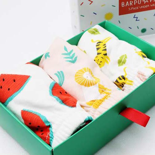 內褲禮盒 韓國 Bebezoo 三角內褲 3件組禮盒 (男) OL17-PA102