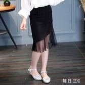 中大尺碼女童裝新款兒童半身裙韓版純色魚尾裙 zm5552【每日三C】
