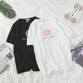 文藝潮男女情侶夏季日系小清新學生短袖T恤衣服韓版體恤 完美情人精品館