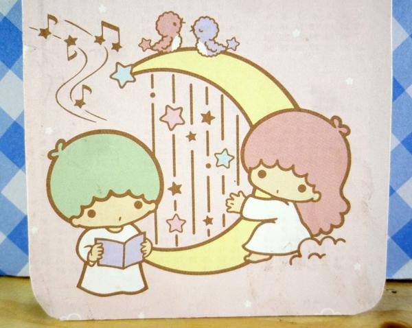 【震撼精品百貨】Little Twin Stars KiKi&LaLa 雙子星小天使~小卡片-粉彈琴