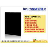 送方型濾鏡擦 NISI 方形減光鏡 方型鏡片 減光鏡 ND8 150x150mm 減光3格 光學玻璃 雙面鍍膜 公司貨