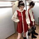 洋裝 2019冬季新款法式初戀裙小個子針織洋裝少女長袖內搭打底毛衣裙