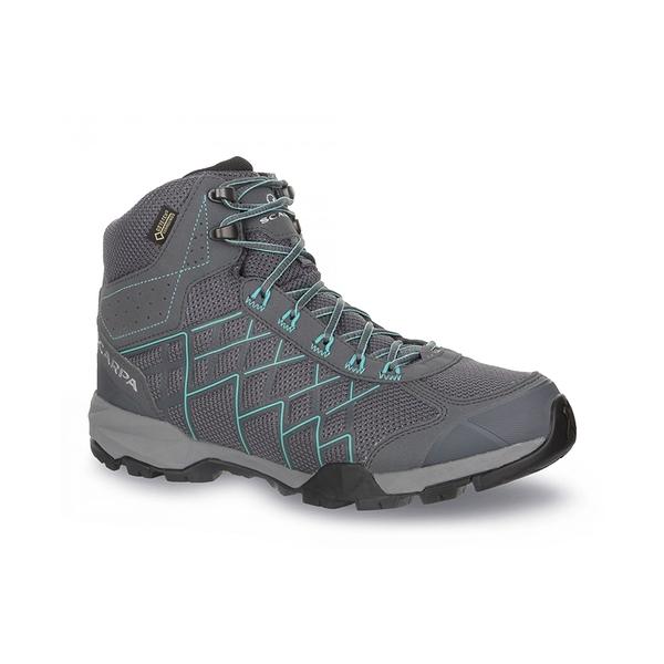 Scarpa Hydrogen Hike Gtx Wmn 女款中筒多功能健行鞋 鐵灰/瀉湖綠