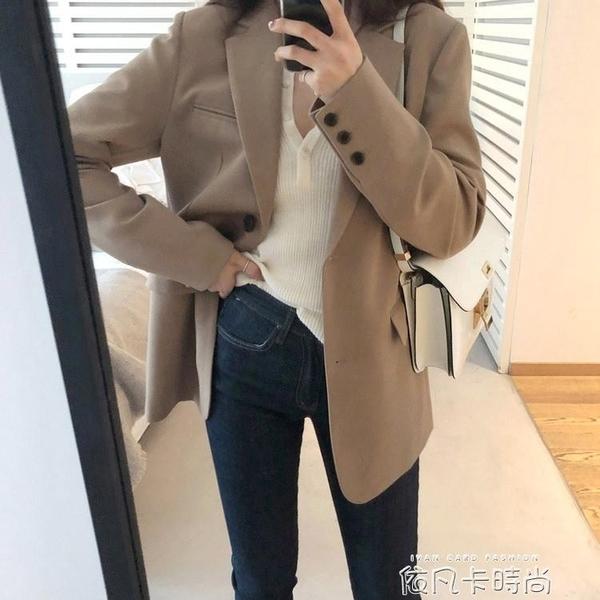 西裝外套女秋冬短款韓版英倫風設計感小眾小個子休閒網紅西服爆款 依凡卡時尚