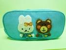 【震撼精品百貨】Daisy & Coro 熊與兔~雙層筆袋化妝包