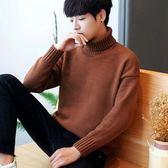 長袖T恤秋冬季高領毛衣針織衫青年韓版修身秋衣打底衫潮男