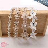 韓國飾品~浪漫珍珠布蕾花朵髮圈~4款(P11381)★水娃娃時尚童裝★