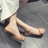 鞋子女新款百搭學生平底孕婦豆豆鞋