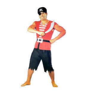 萬聖節 加勒比海盜服裝 5件套260g