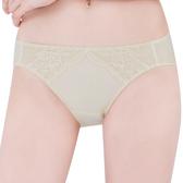 思薇爾-薔薇心系列M-XL蕾絲低腰三角內褲(香檳金)