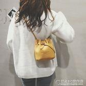 小包包女夏天時尚簡約抽帶迷你水桶包韓版百搭單肩斜挎包