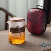 星鹿一壺三杯陶瓷快客杯戶外隨身泡茶壺便攜式旅行茶具套裝【邻家小鎮】