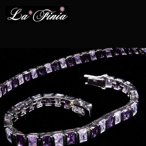 【La Finia】紫蘿蘭晶鑽水晶手鍊