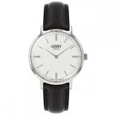 【台南 時代鐘錶 Henry London】英倫復古風潮 經典品味時尚腕錶 HL34-S-0341 銀 34mm