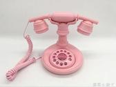 復古電話機個性時尚創意酒店用可愛卡通家用固定電話有線座機 NMS蘿莉小腳丫