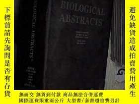二手書博民逛書店BIOLOGICAL罕見ABSTRACTS 2003 NUMBER 18 生物學文摘2003年第18期Y261