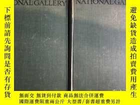 二手書博民逛書店THE罕見NATIONAL GALLERY 100 PLATES IN COLOUR Vol I & II Edi