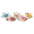 英國Royal Albert 1950-1990百年骨瓷紀念杯盤五入禮盒組