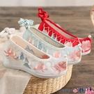 熱賣古風鞋子 春季新款7厘米古風鞋子女漢服鞋內增高舒適軟底繡花鞋搭配古裝鞋 coco