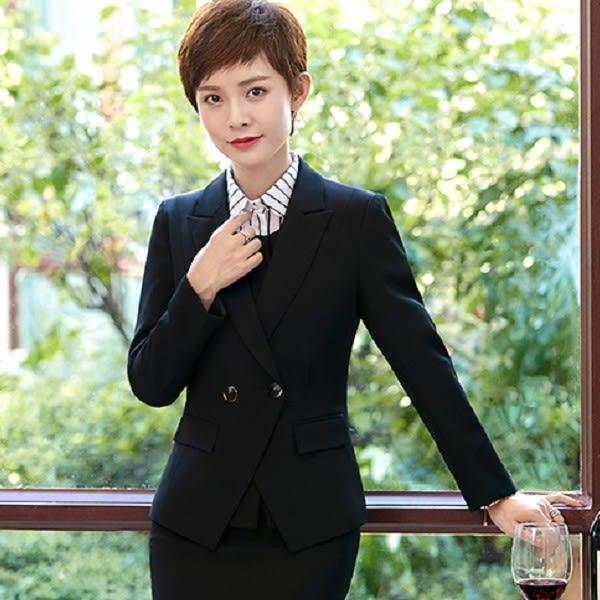 美之札[YL-7142-PF]中尺碼*雙扣式粉領長袖西裝外套~秋冬款式~