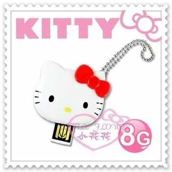 ♥小花花日本精品♥Hello Kitty USB隨身碟辦公室必備大臉立體蝴蝶結造型紅色8GB台灣製 21079702