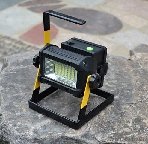 帳篷燈 - 戶外LED泛光燈投光燈 充電便攜移動手提工地燈【快速出貨八折搶購】