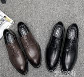 男士英倫商務正裝軟面皮內增高新郎尖頭皮鞋男韓版潮流青年休閒鞋 青山市集