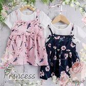 夏日清新彩繪花朵假2件洋裝-2色(270571)★水娃娃時尚童裝★