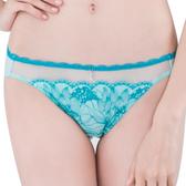 思薇爾-撩波芙蓉之戀系列M-XXL蕾絲低腰三角內褲(青苗綠)