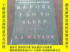 二手書博民逛書店Before罕見I Go to Sleep: A Novel(英