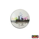 【收藏天地】台灣紀念品*水晶玻璃球冰箱貼-台北城市彩虹泡泡