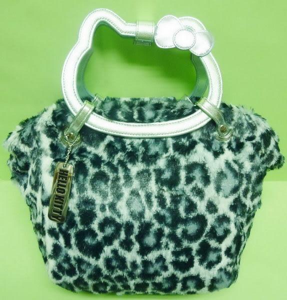 【震撼精品百貨】Hello Kitty 凱蒂貓~造型臉型提把絨毛手提包『白藍』