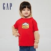 Gap男幼童 Gap x Ken Lo 藝術家聯名系列純棉短袖T恤 854744-紅色