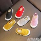 兒童帆布鞋 童鞋男童夏季兒童洞洞鞋透氣軟底女童一腳蹬網鞋寶寶幼兒園室內鞋-完美