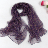 絲巾 時尚洋氣薄款絲巾 春夏秋季女士真絲絲巾 圍巾 紫黑粉色