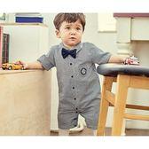 正韓貝貝龍 紳士西裝禮服-深藍羅賓襯衫 | 花童婚禮宴會正式場合 | 男寶寶【KORE110010011】