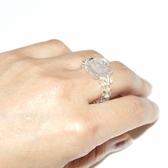 【喨喨飾品】天然紫晶雕刻玫瑰花 戒指 S429