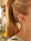 耳環 現貨 韓國時尚潮風 獨特葉子 流蘇耳夾耳環(2色) S6860 單個價 批發價 Danica 韓系飾品 韓國連線